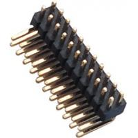1.27 Mm Pin Header Right Angle high temperature plastic DIP H=1.5  PA9T black UL94V-0 Manufactures
