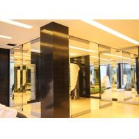 Folding Glass Partition Wall , Interior Glass Door , Movable And Sliding