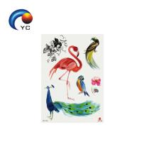 Factory Wholesale Animals Tattoo flamingos Colored Temporary Tattoo Sticker Party Supply Manufactures