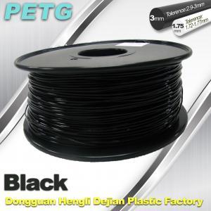 1.75mm / 3.0 mm Temperature Resistance  PETG Black Filament  1.0KG / Roll Manufactures