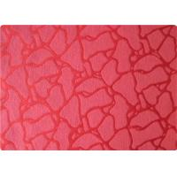 International 100 Polyester Elastane Fabric , Red Jacquard Fabric Cloth Manufactures