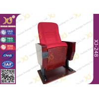Buy cheap Back Rest Table Auditorium Theater Seating With Folding Cup Holder On Legs from wholesalers