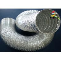 Hydroponics Aluminium Foil Fire Rated Flexible Duct 5 Inch Small Bending Radius Manufactures