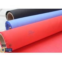 Acrylic Coated Fiberglass Fire Blanket 490GSM 0.43mm Red Fire Safety Protection Manufactures