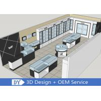 OEM 3D Design Store Jewelry Display Cases Wooden Shinning White / Black Manufactures