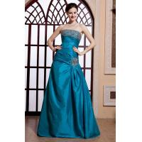 China Charming Taffeta Floor Length Prom Gown Dresses , Strapless Straight Across Neckline on sale
