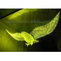 Changeable Colorful Indoor Water Curtain Customized Animal Shaped For Ornament Manufactures