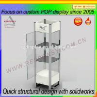 China Free Standing clear bedroon toys display stand and showcase on sale