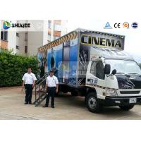 Mobile Truck Model 7D Movie Theater Of Luxury Leather Motion Chairs , Remove Anywhere Manufactures