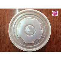 22oz PS Disposable Plastic Lids Diameter 90mm With Hole / SGS Certificated Manufactures