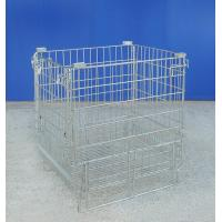 Cellular Mild Steel Metal Mesh Cage Durable Warehouse Wire Container Manufactures