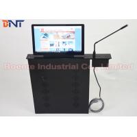 Conference Room Meeting Microphone Slim LCD Monitor Screen Motorized Lift 17.3 Inch 1080P Screen Manufactures
