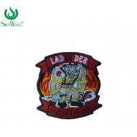 Colorful Sweatshirt Custom Woven Patches / Stick On Sewing Patches On Shirts Manufactures