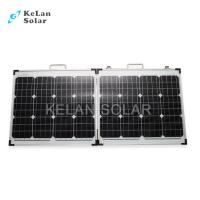 Tempered Glass 100W Fold Up Solar Panels16% Module Efficiency For Golf Cars Manufactures
