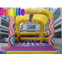 BO179 colorful rainbow funny inflatable pvc tarpaulin castle Manufactures