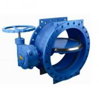 125 lbs / 200psi Double Eccentric / flange Butterfly Valve with HandWheel Manufactures