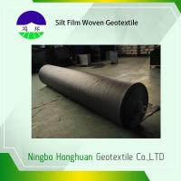 Black PP 136G Silt Film Woven Geotextile Circle Loom Grab Tensile 900N Roll Size 12.5'*432' Manufactures