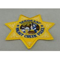 China Crafts Toys Custom Embroidery Patch Back Side Police Patch Badge on sale