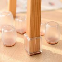 plastic silicone anti-noise furniture feet protector table chair leg caps Manufactures