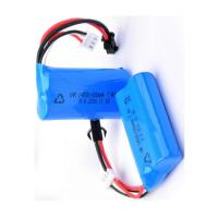 14500 Rechargeable Battery Pack 7.4V 650mah For LED Torch / Mini Speaker , Blue Color Wrap Manufactures