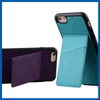 China TPU Back Stand Cell Phone Leather Cases iPhone 6S Credit Card Slots Holder on sale