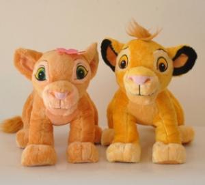 Personalized Stuffed Animals Lion King Simba Plush Toy , Orange Manufactures