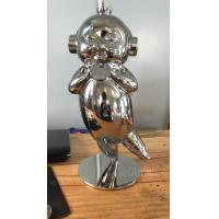 Indoor Decoration Cartoon Pig Stainless Steel Statue With Full Handicraft Manufactures