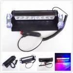 Red & Blue color Car Police Strobe Flash Light 8 LED 8W Emergency Warning Light 12V Universal Manufactures