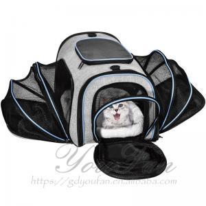 Fashionable Pet Carrier Bag , Zipper Closure Type Cat Travel Bag Manufactures