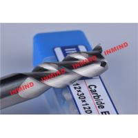 HRC50 8mm / 10mm / 12mm Aluminium End Mill 3 Flute No Coating 45º Helix Angle Manufactures