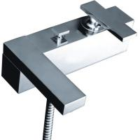 Two Hole Brass Single Handle Tub And Shower Faucet with Square Main Body Manufactures