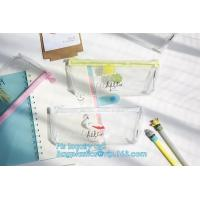 Supplier stationary silicone pen pouch/silicone rubber pen pencil bag, Customized Logo Rubber Zip Lock PVC Pencil Bag Manufactures