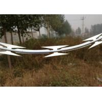 Military Galvanized Low Price Concertina Single Loop Razor Barbed Wire Manufactures