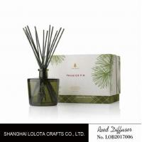 Blackish green color bottle with natural stick and rigid gift box Manufactures