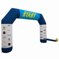 Outdoor Promotional Advertising Gifts Inflatable Race Arch With Air Blower Manufactures