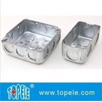 "4"" 1-1/2'' Deep Steel Square / Rectangular Conduit Outlet Junction Box , Electrical Boxes And Covers Manufactures"