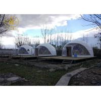 PVDF Or PTFE Geodesic Camping Tent Outdoor Strong Structure Half Sphere Manufactures