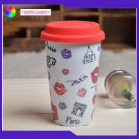 Double Layer Insulated Ceramic Coffee Mugs Without Handles Silicone Cover Manufactures