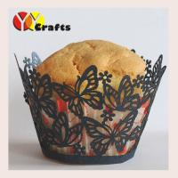 Laser Cut Butterfly Cupcake Wrappers Wedding Party Cup Cake Liners Manufactures