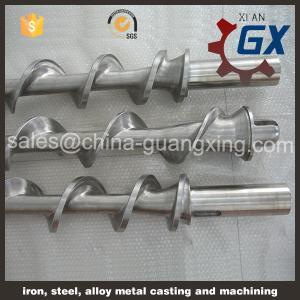 China Bimetallic single screw barrel for PVC cable extruder on sale
