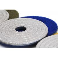 Fast Change Diamond Polishing Pads , 4 Dry Concrete Polishing Pads Extremely Long Life Manufactures