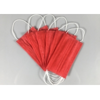 Anti Spray 3 Ply Red OEM Disposable Earloop Mask Manufactures