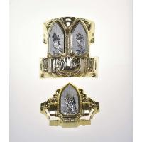 ABS Material Coffin Ornaments , Luxury Casket Corners 20# With Different Panel Manufactures