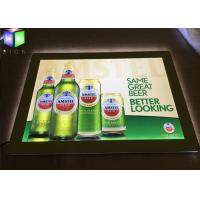 China LED Lightbox Display , Indoor Wall Mounted Crystal LED Light Box For Beer Sign on sale