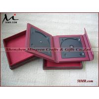 Leather Fabric cd dvd album Holder with Gift Box Manufactures