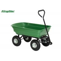 China Rubber Wheel Heavy Duty Garden Cart Tipper Trailer For Gardening Tools Moving on sale