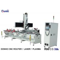 China Single Arm 4 Axis CNC Router Machine For Caring Drilling Holes On Square Cylinder on sale
