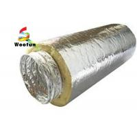 Insulated 10 HVAC Duct Insulation Wrap , Aluminum Foil Flexible Ventilation Ducting Manufactures