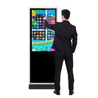 43 49 55 65 inch floor stand alone hd lcd infrared touch interactive digital signages computer Intel i3 IR touch screen Manufactures