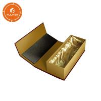 Gold standard premium luxury magnetic wine gift box / portable champagne bottle box Manufactures